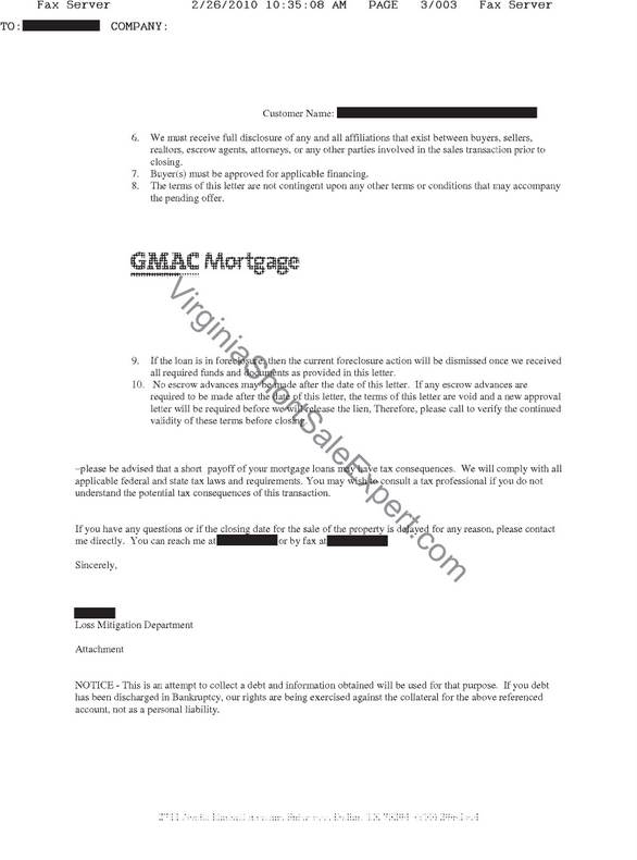 Gmac Short Sale Approval  Virginia Short Sale Specialist