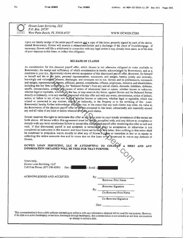 Ocwen Short Sale Approval Letter